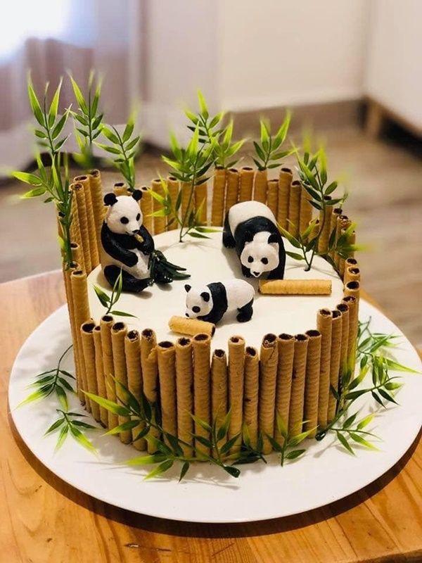 Tartas infantiles temáticas: osos panda | DecoPequ
