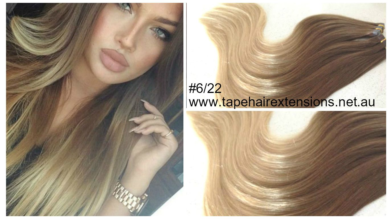 Light Brown Hair Style: 6/22 Light Brown Ombre Hair Extensions Russian Stunning