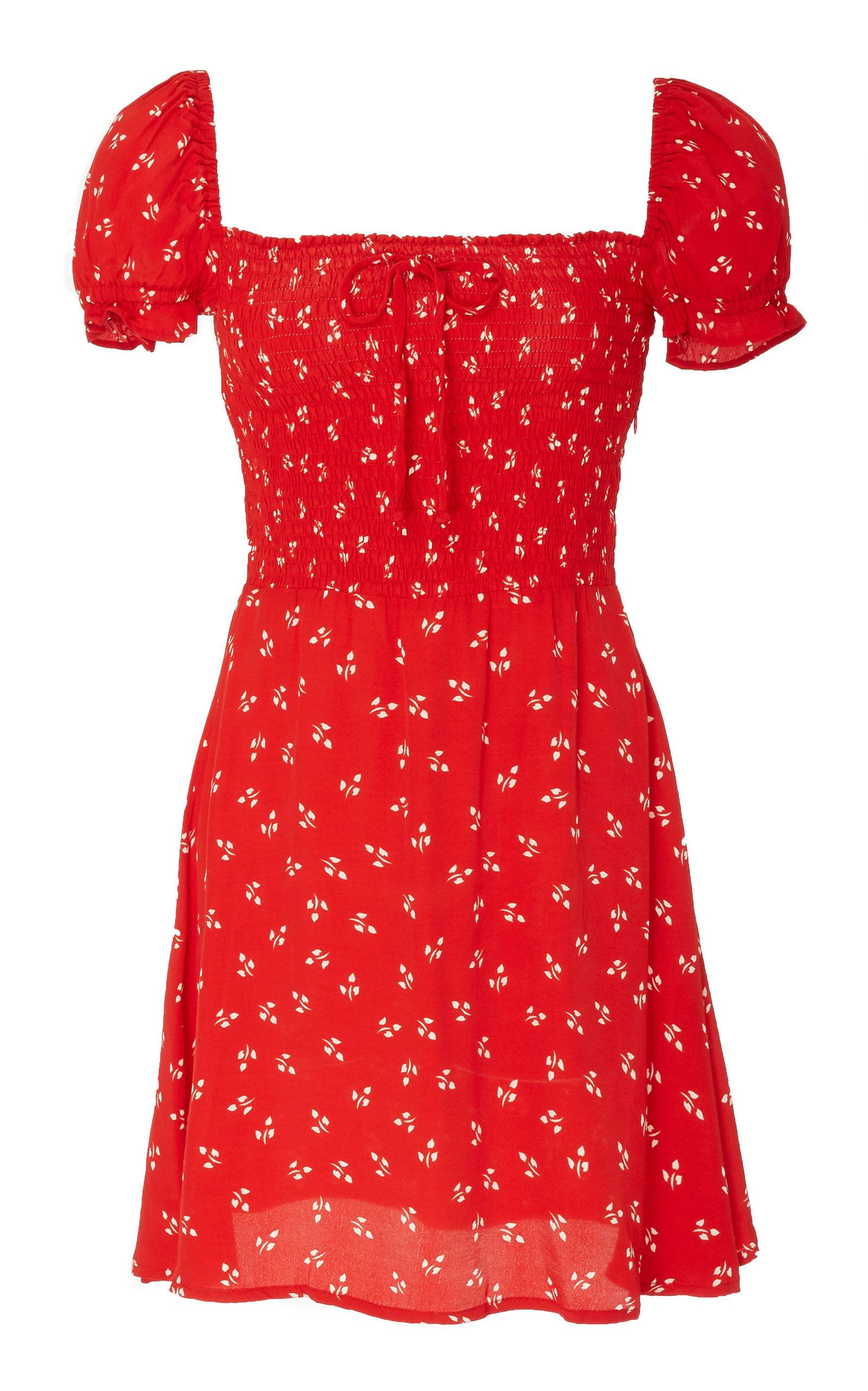 657b939ffaae Genevieve Floral-Print Chiffon Mini Dress by FAITHFULL THE BRAND Now  Available on Moda Operandi
