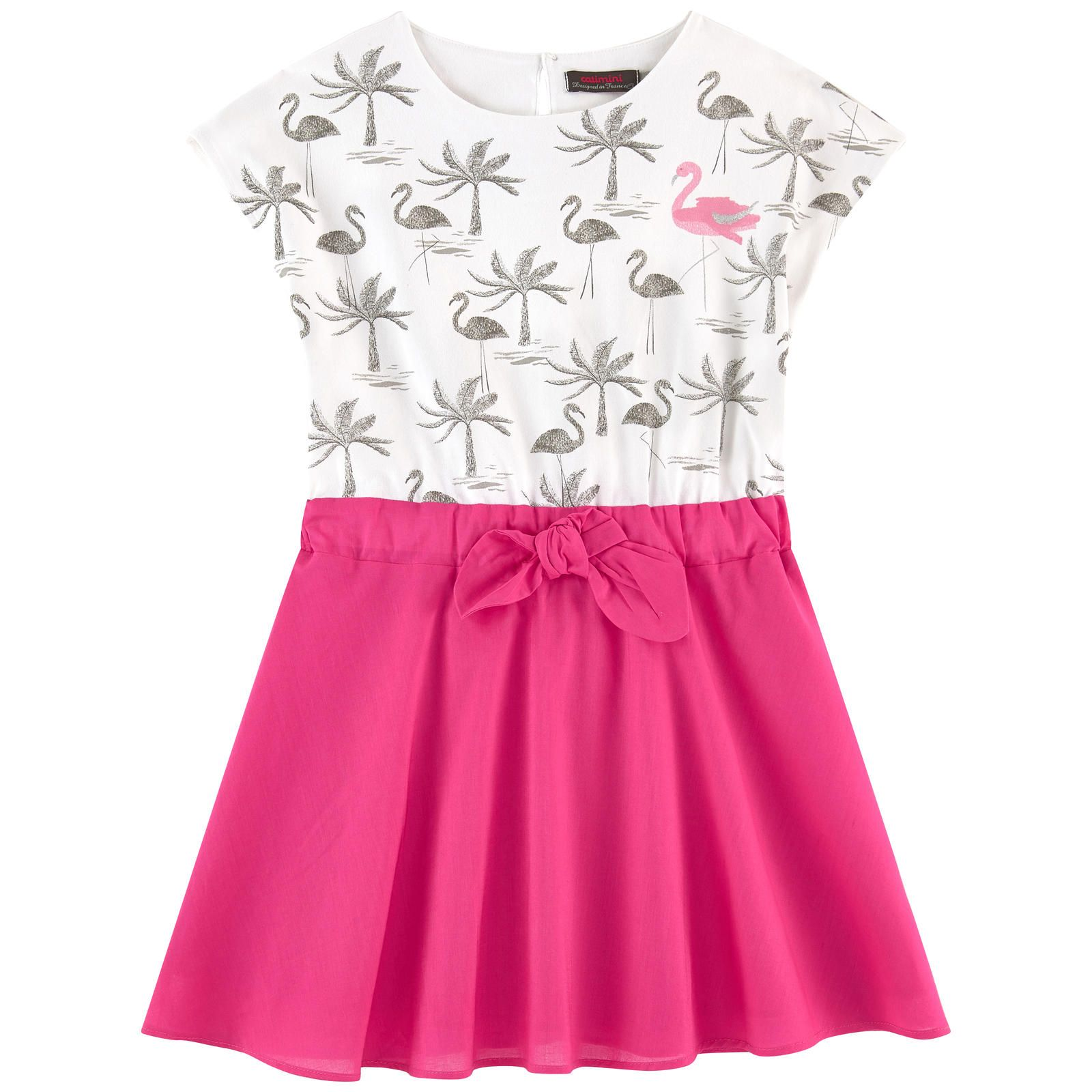 d563a86ad6c Bi-material dress - 161720