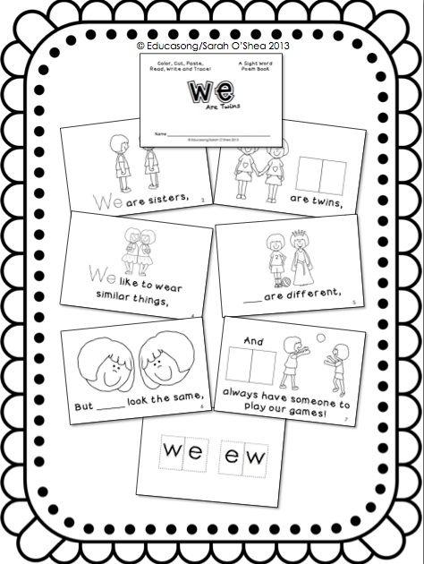 EDUCLIPS & EDUCASONG: {Free} Sight Word Poem Activity