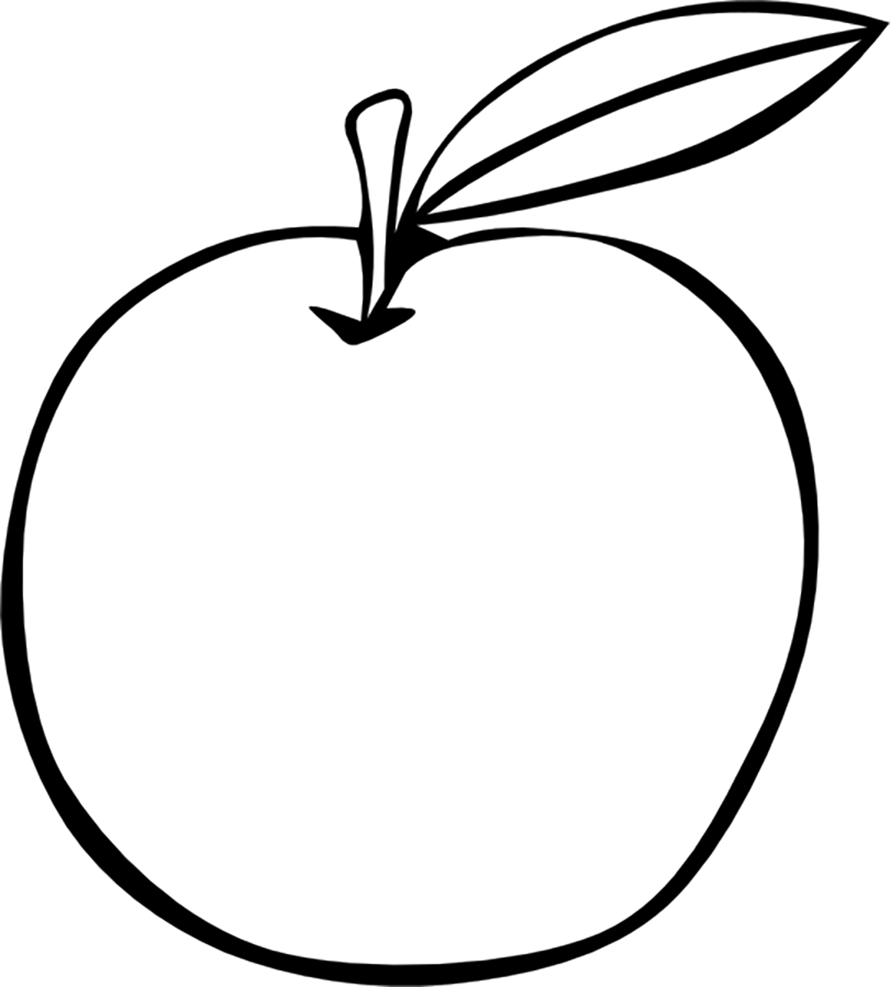 small apple fruit fruits coloring pages pinterest apple fruit