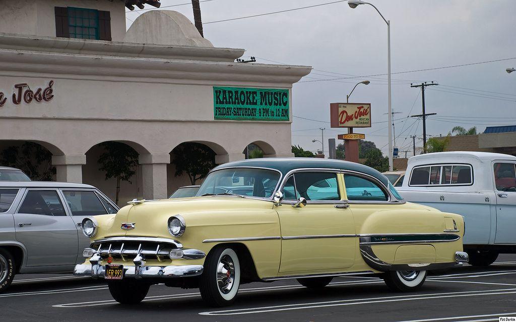 1954 Chevrolet Bel Air 2 Dr Sedan Green Over Yellow Fvl Chevrolet Bel Air Bel Air Chevrolet