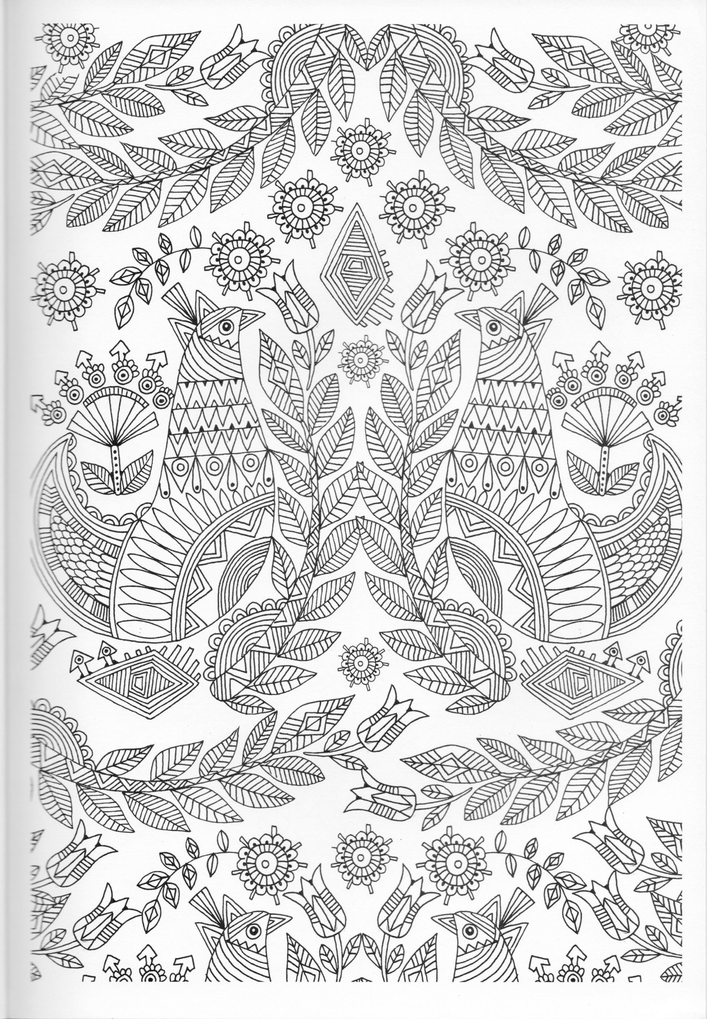 Scandinavian Coloring Book Pg 9 | Color pages, Stencils, Templates ...