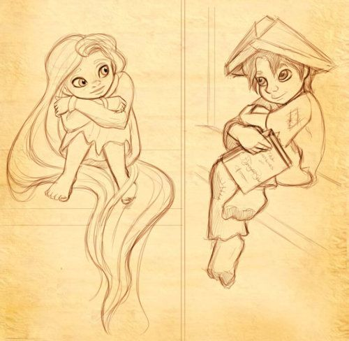 Little Rapunzel and Little Eugene! I want to pinch some cheeks! Ha.
