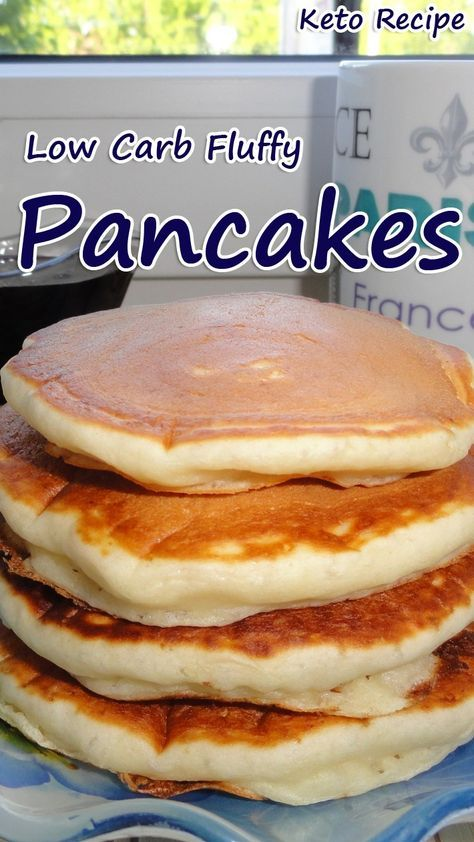 Low Carb Fluffy Pancakes #lowcarbeating