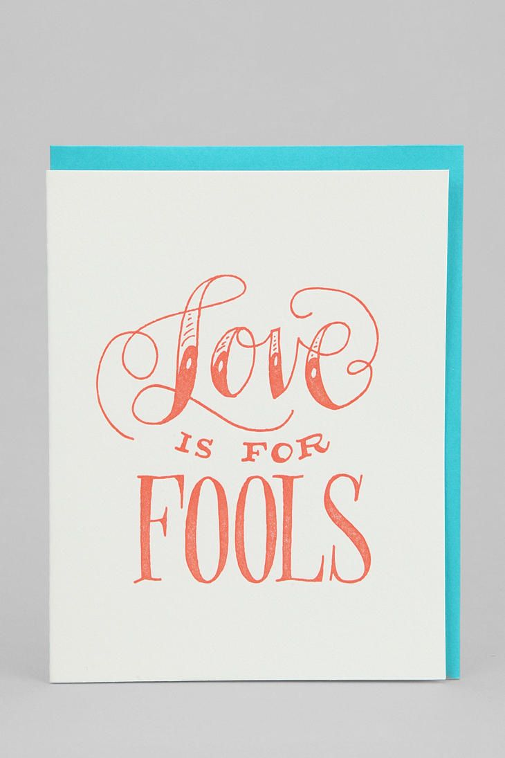 Love is for fools card with images funny greeting