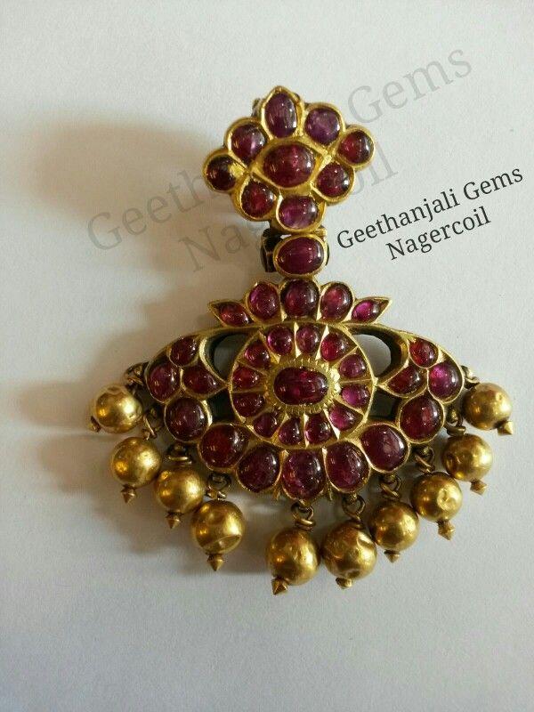 Vintage Ruby Pendant Terracota Jewellery Gold Jewellery