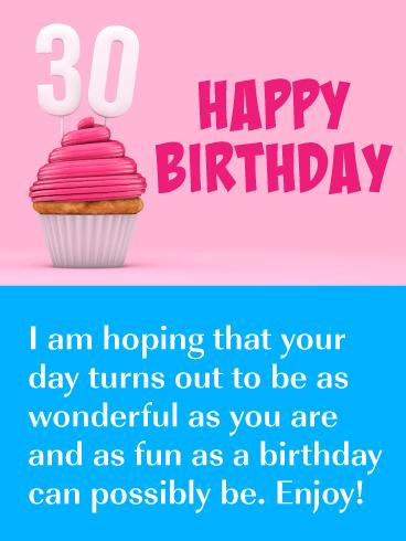 Happy 30th Birthday Card Send An Eye Catching