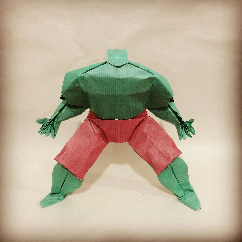 Origami Hulk Version 2 My Design Origami Barbie Cartoon Easy Paper Crafts