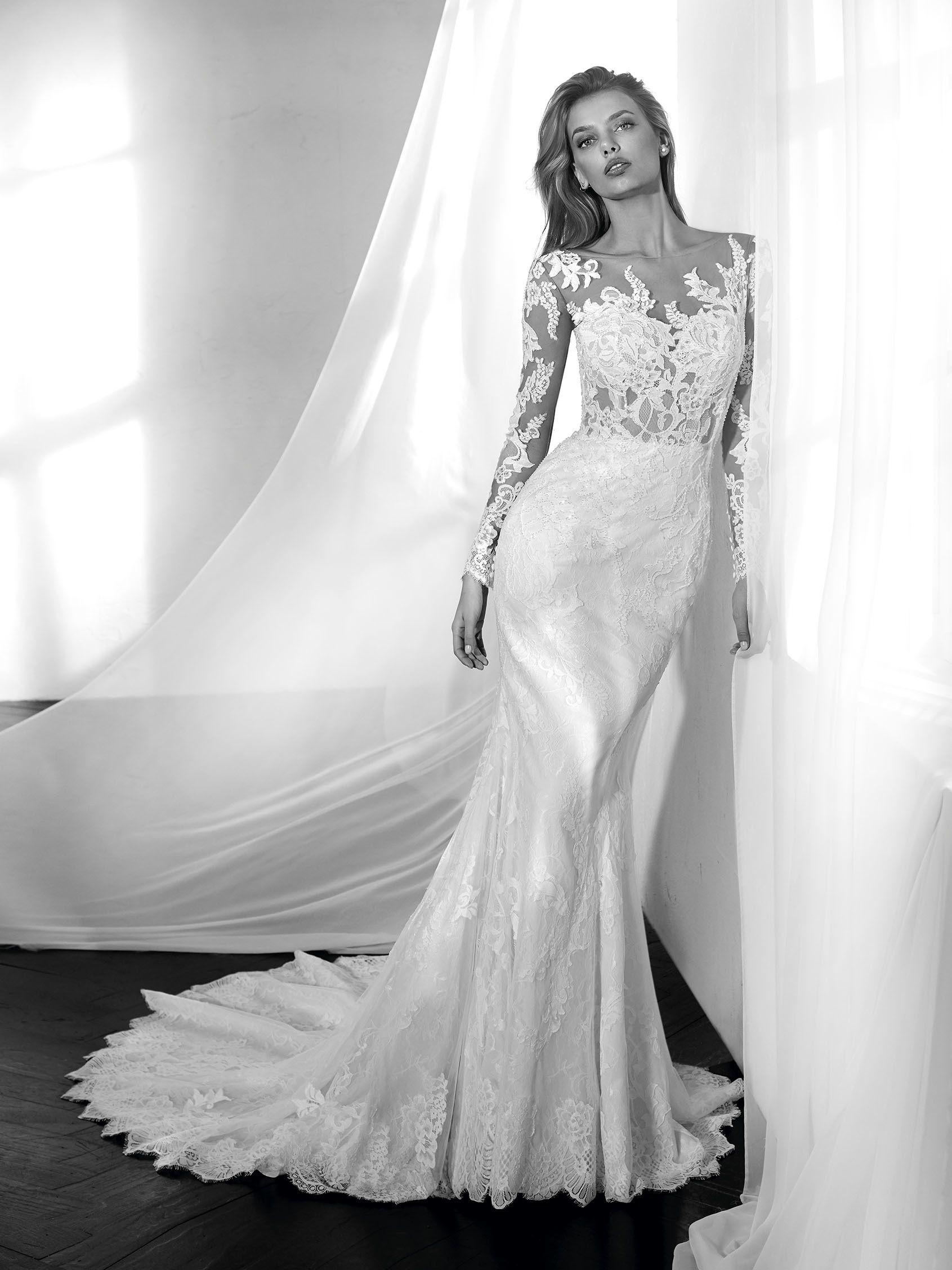 Zama Wedding Dress With Long Sleeves Wedding Dresses Long Sleeve Mermaid Wedding Dress Elegant Bridal Gown