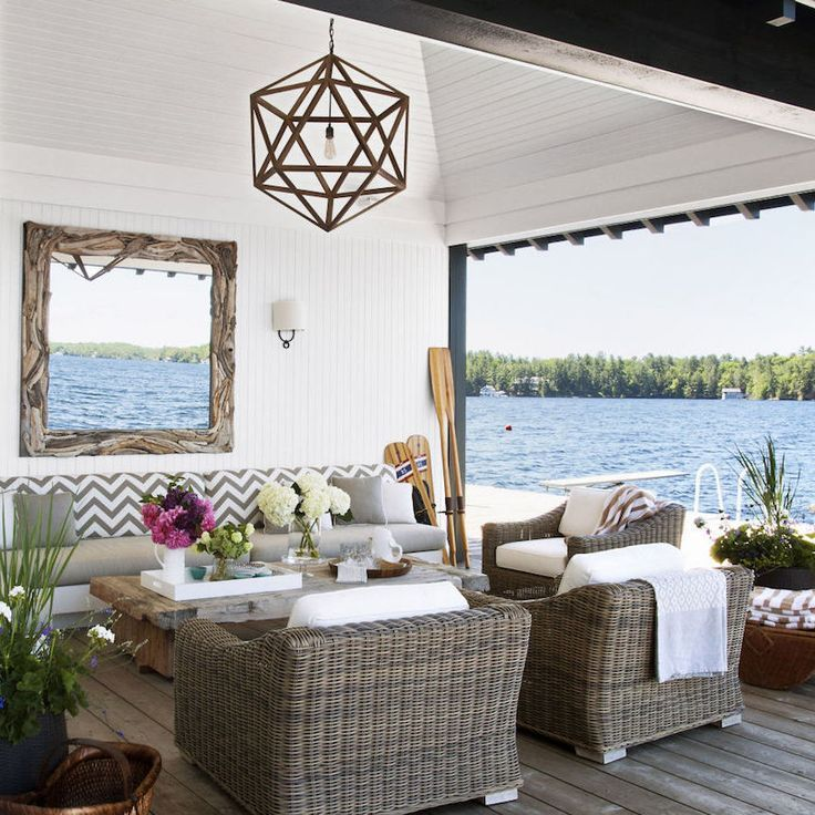 Interior Designer Anne Hepfer S Modern Rustic Summer Lake: This Designer's Rustic-Chic Summer Home Is Haute To The