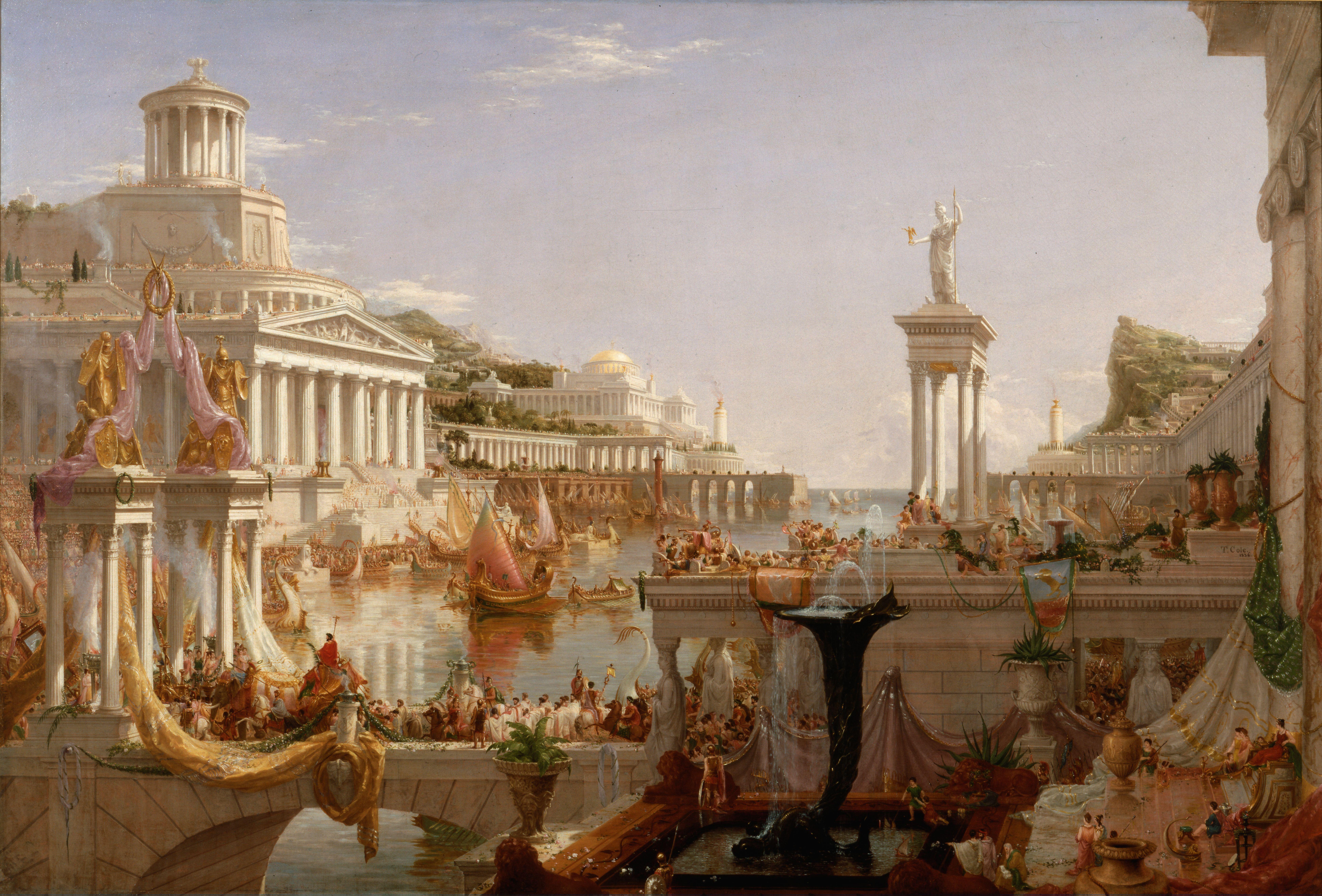 Roman Empire Painting Canvas Ancient Rome 8k Wallpaper Hdwallpaper Desktop The Course Of Empire History Painting Western Art