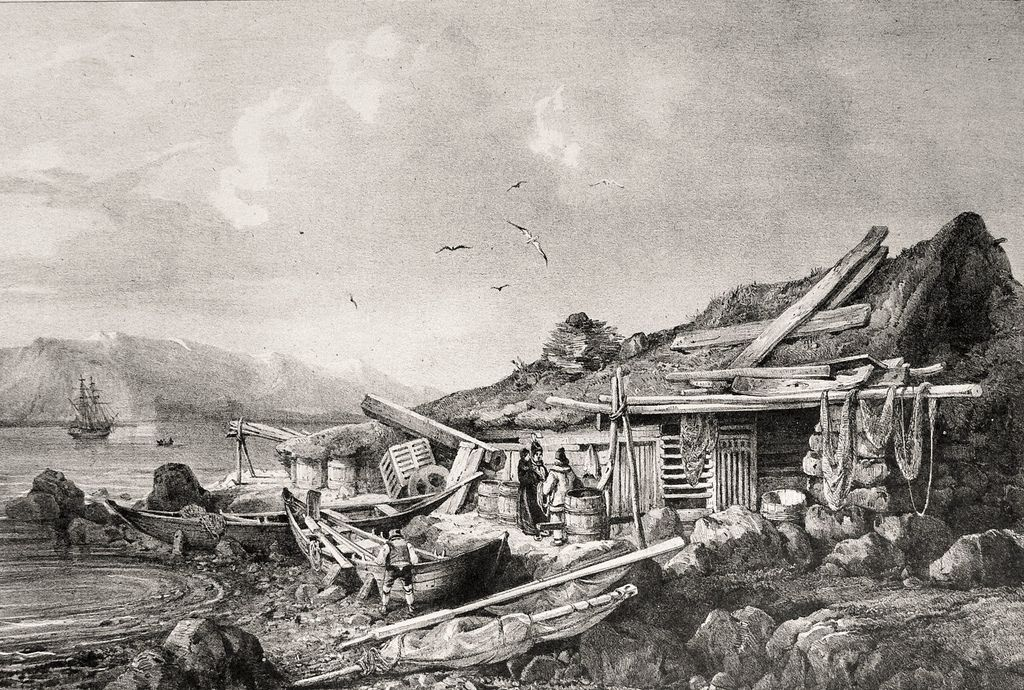 https://flic.kr/p/6Mxnvx | Settlement at Reykjavík on Iceland by Gaimard, 1835 | Bosetting i Reykjavik på Island av Gaimard, 1835.  Établissement de pêcheur à Reykjavík by Gaimard, 1835.  Wikimedia Public upload.wikimedia.org/wikipedia/commons/1/11/Gaimard21.jpg