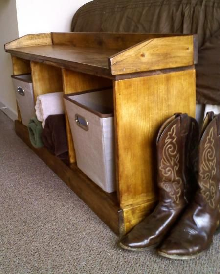 Do It Yourself Home Design: First Project: Storage Bench