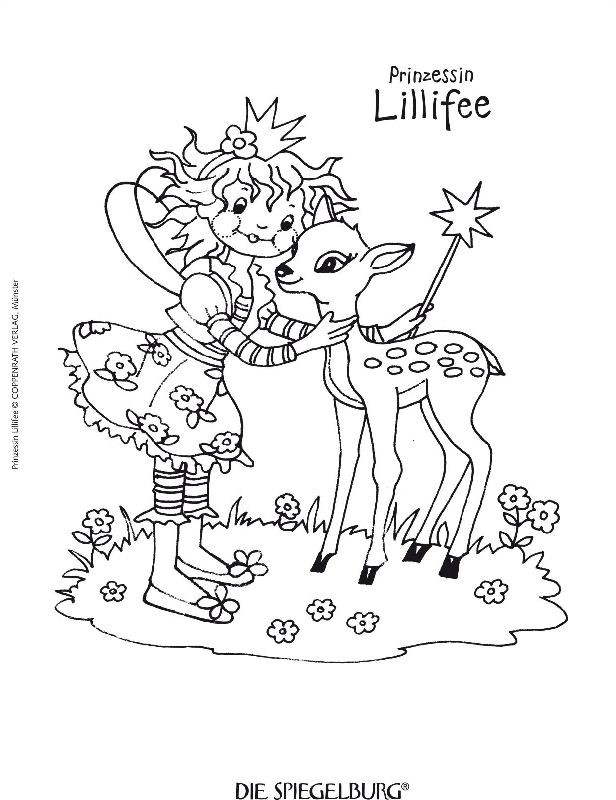 Princess lillifee coloring pages -