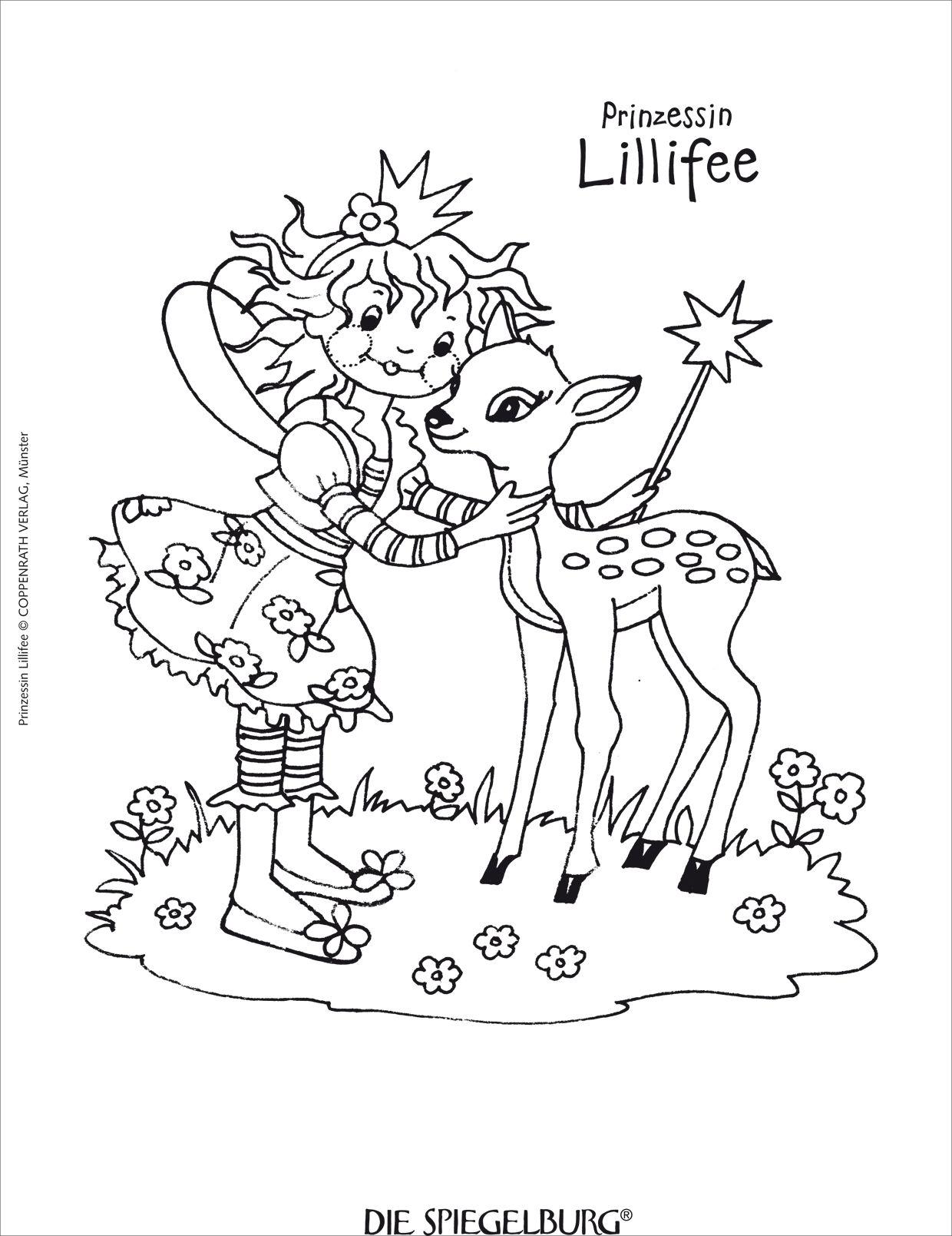 Prinzessin Lillifee Ausmalbilder und Malvorlagen. | Prinzessin ...