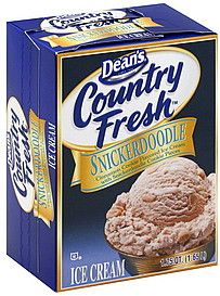 OK, so it's not very good for me, but Dean's Snickerdoodle Ice Cream is yummy.