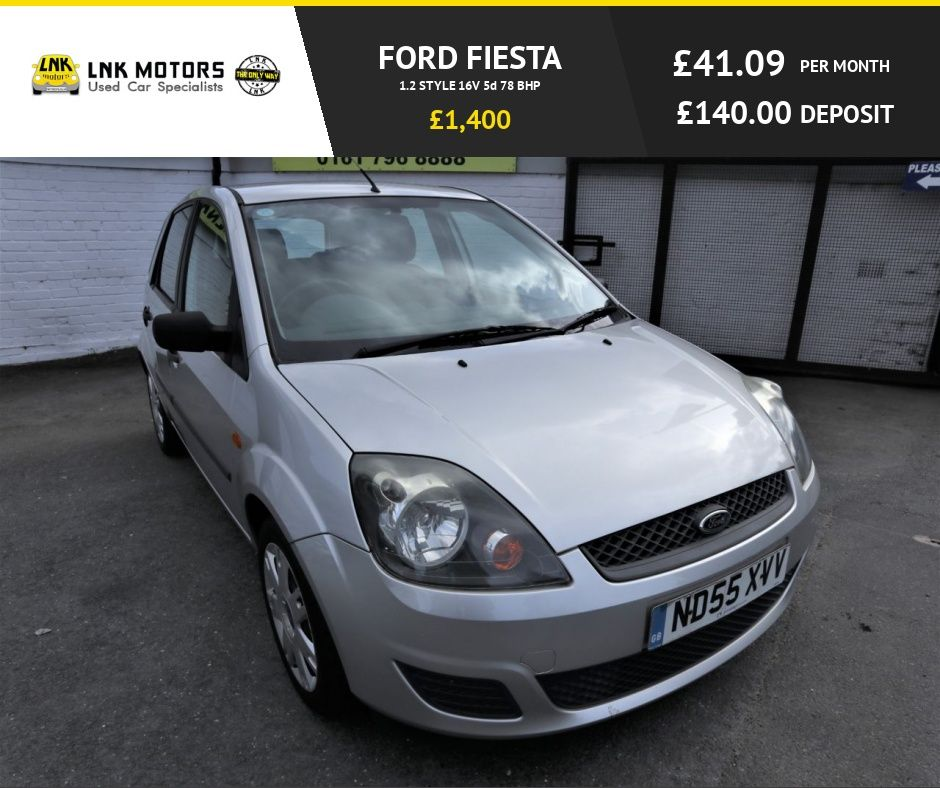 2006 55 Ford Fiesta 1 2 Style 16v 5d 78 Bhp Low Tax Low Insurance Free Nationwide Warranty Low Tax Insurance Cars For Sale Used Ford Ford Fiesta
