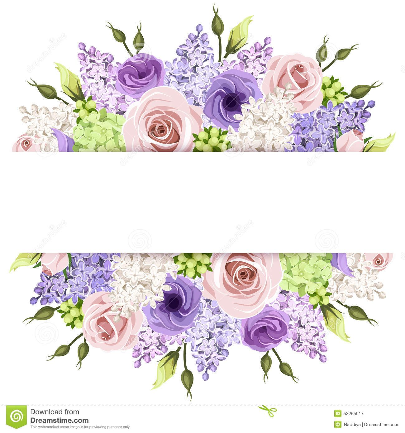 Vector horizontal background with pink, purple, white and