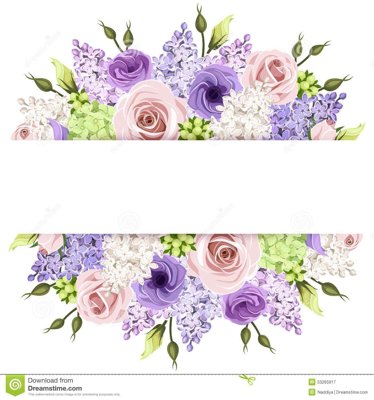Flower frame vector Vector Flower frame, Flower photos