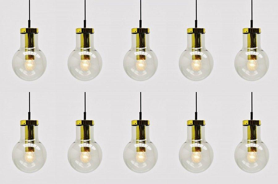 Raak Maxi Globe Lamps Set Model M Amsterdam 1965 Mass Modern Design