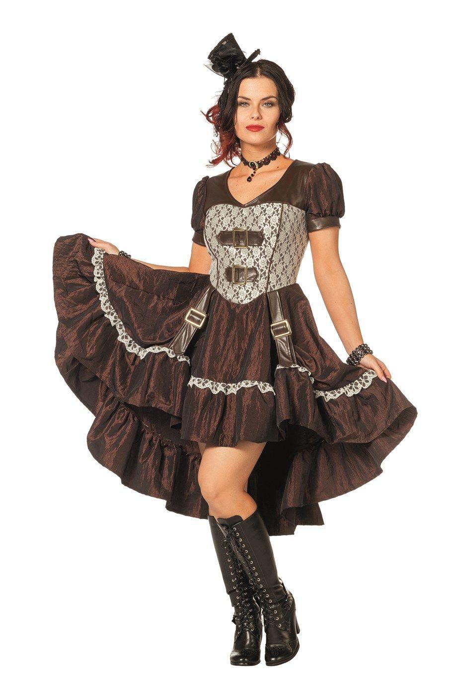 Steampunk jurk voor dames in een zeer fraaie uitvoering