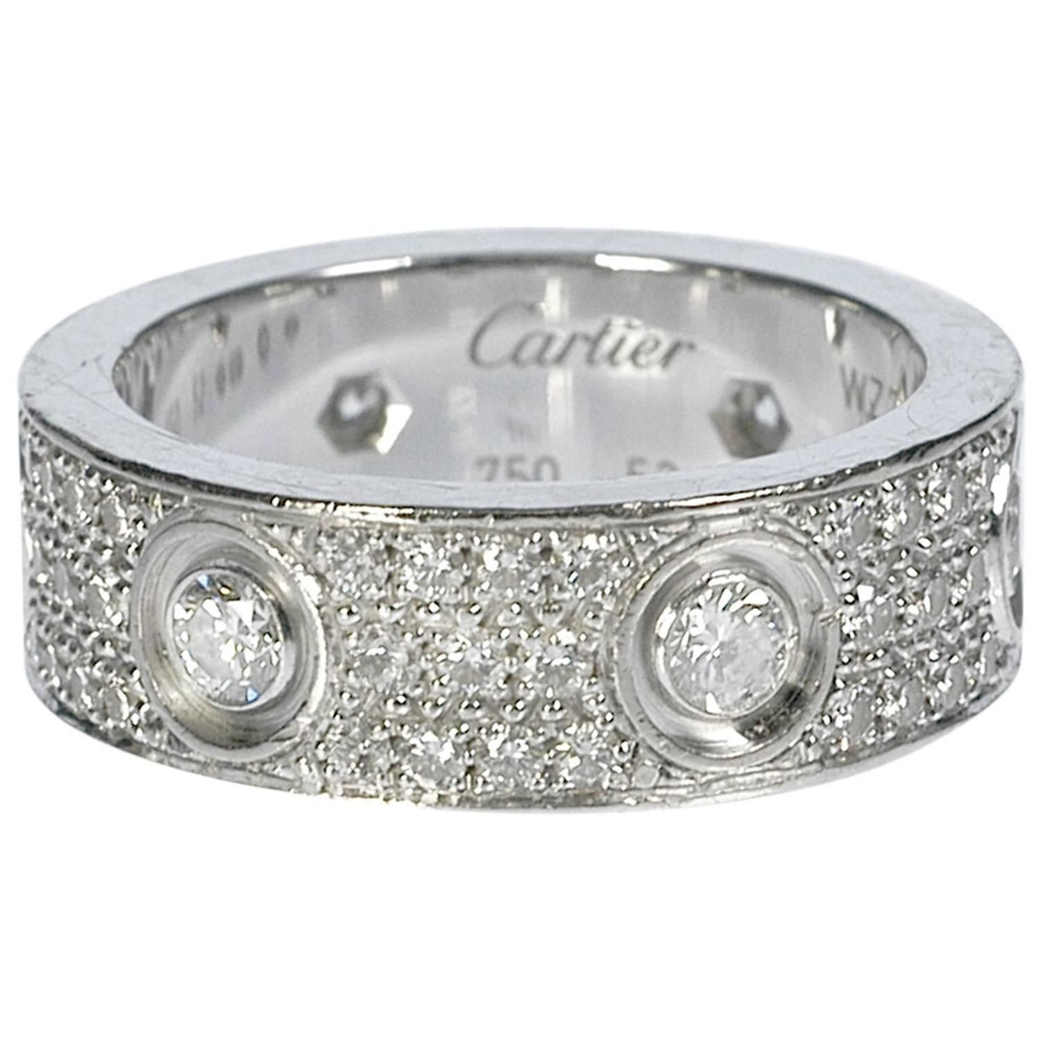 Cartier Diamond Gold Love Wedding Band Ring From a