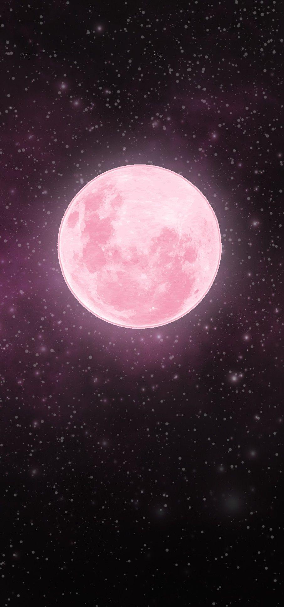 Pink Moon Pink Moon Wallpaper Moon And Stars Wallpaper Pink Moon