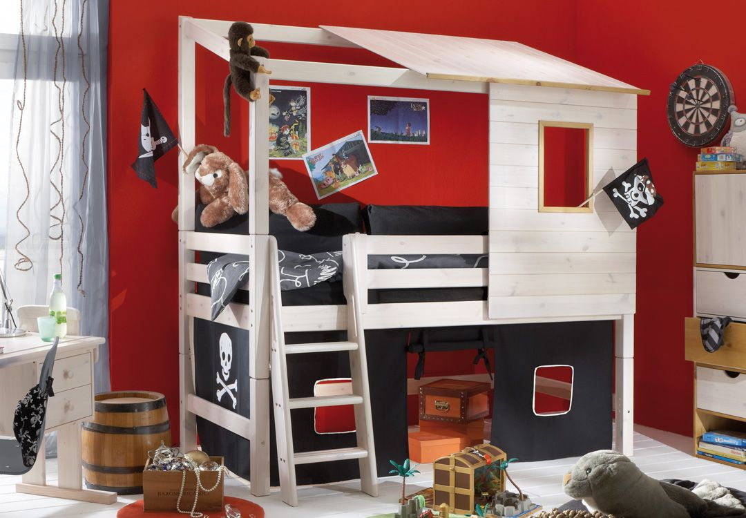 INFANSKIDS Abenteuerbett PIRAT II, halbhoch Kinderzimmer