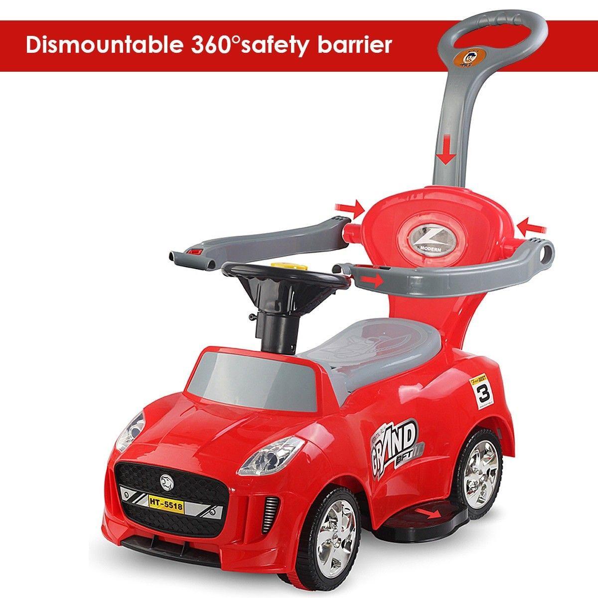 3 in 1 Kids Ride on Push Car Stroller Toddler Wagon Kids
