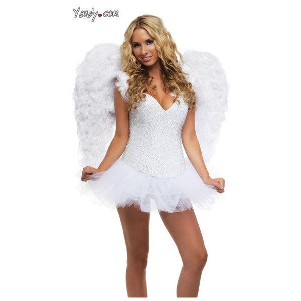 Deluxe Rhinestone Angel Costume ($350) ❤ liked on Polyvore me - angel halloween costume ideas