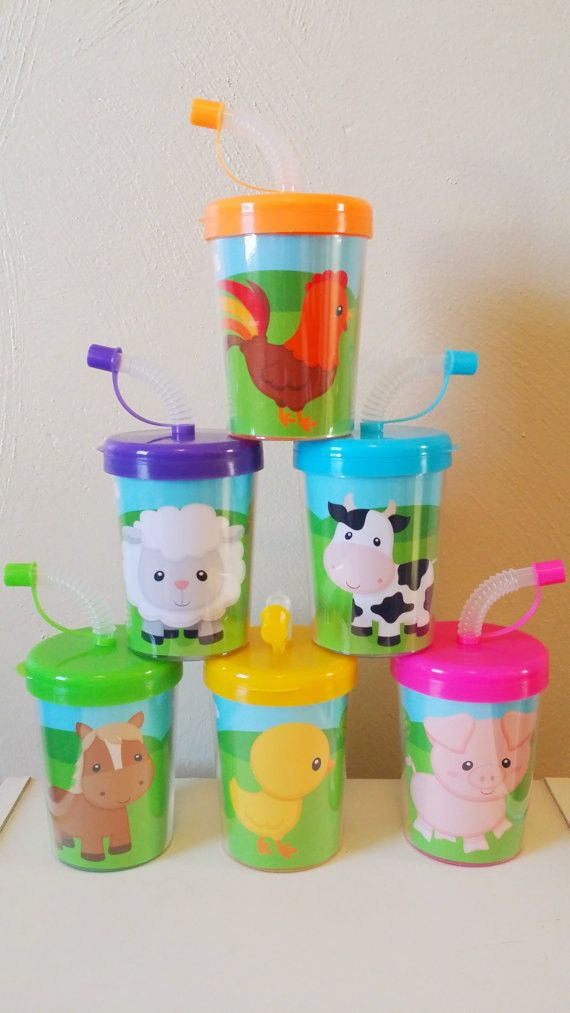 Farm animals party favor cups do it yourself diy birthday treat farm animals do it yourself party favor cups diy birthday treat cups cow solutioingenieria Image collections