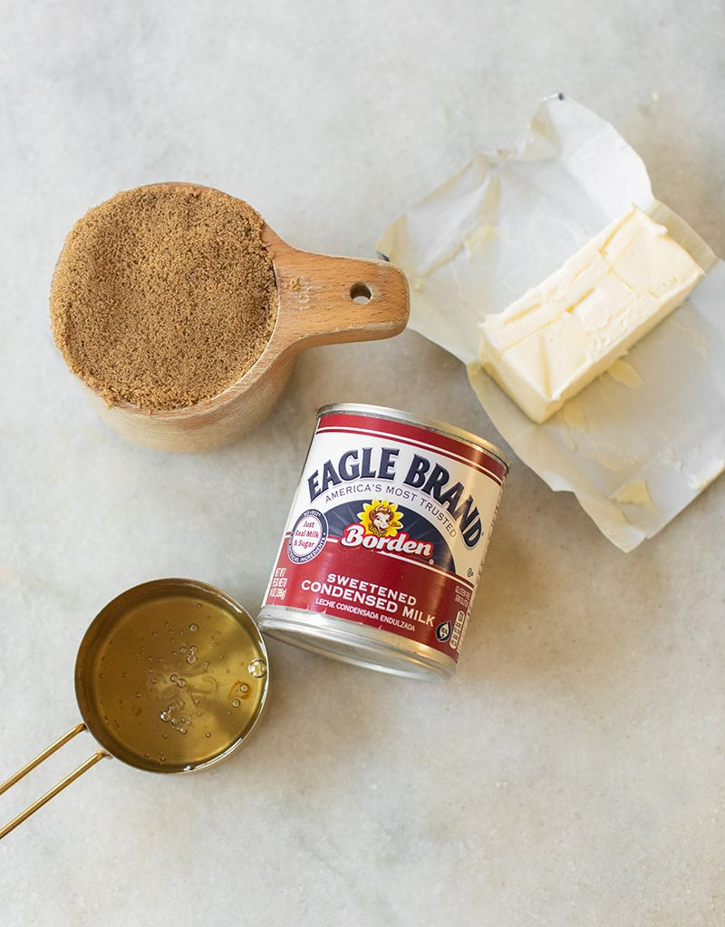 Easy caramel sauce with sweetened condensed milk sugar