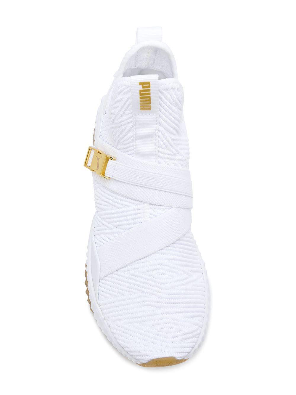 Puma X Selena Gomez Defy Mid Varsity sneakers White Women ...