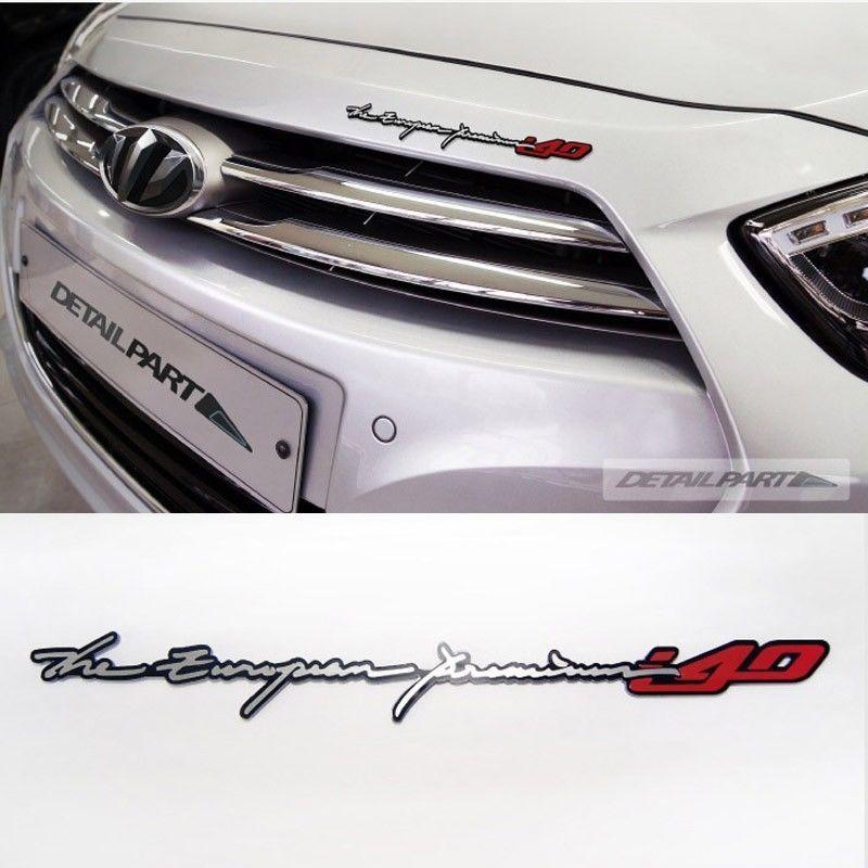 Detailpart Car Slim Emblem i Series for Hyundai i40 #Detailpart #Detailkorea #Car #Car_Emblem #Emblem #Decal_Sticker #Car_Name_Emblem #Hyundai #i40
