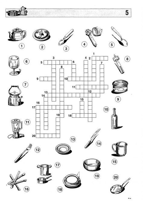 Crucigramas de comida para imprimir - 9 pasos - unComo | Atividades ...