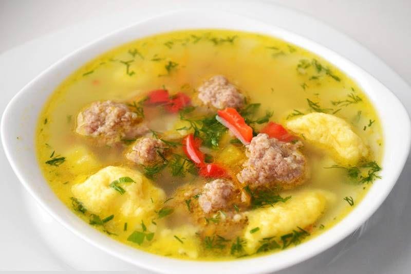 Суп с фрикадельками и галушками рецепт с фото пошагово ...