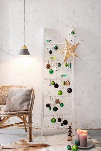 Deko-Hänger, aus Glas, 3-teilig #weihnachtsdekoimglasmitkugeln