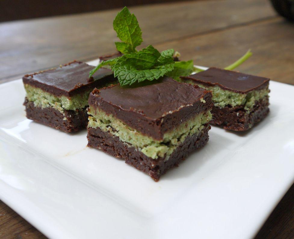 Green peppermint slice
