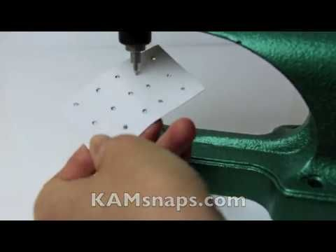 How to Use Awl Dies for KAM Snap Press or Pliers to Poke