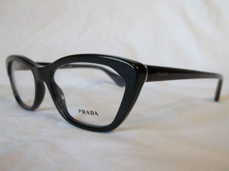 PRADA EYE GLASSES FRAME PR03QV 1AB1O1 SHINY GLOSS BLACK 54-18-140 ...