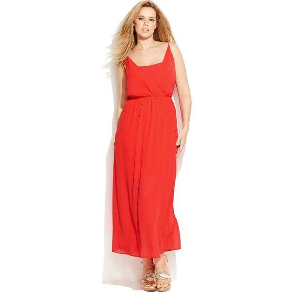 Junarose Plus Size Racerback Maxi Dress ($22) ❤ liked on Polyvore ...