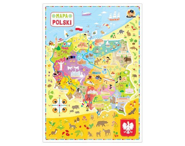 Plakat Mapa Polski Sklep Czuczu Pl Mapa Plakat Gry Dla Dzieci