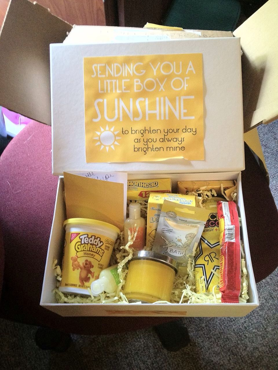 Sending You A Box Of Sunshine Friend Birthday Gifts Best Bff