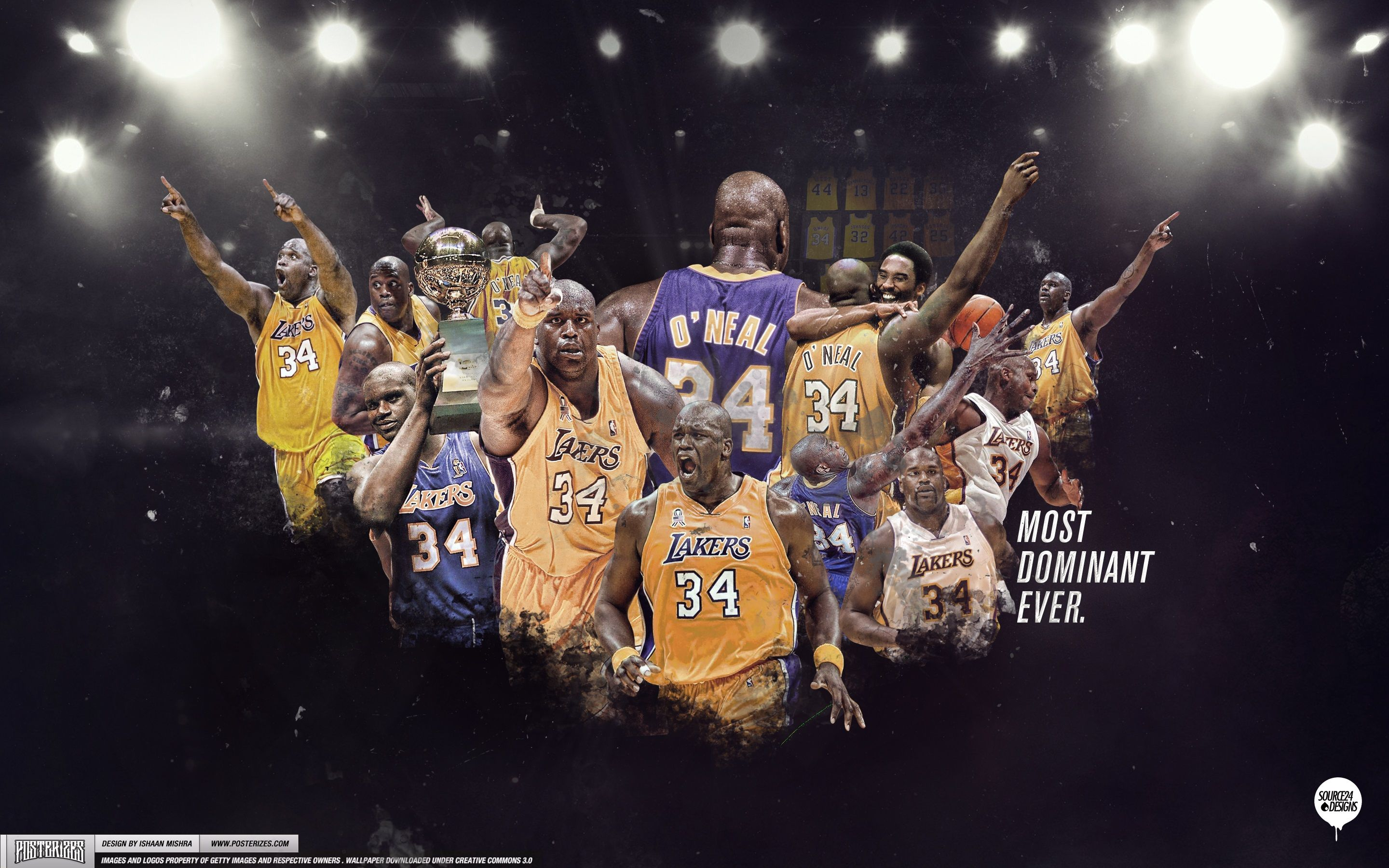 Shaquille O'neal Lakers Wallpaper Lakers wallpaper