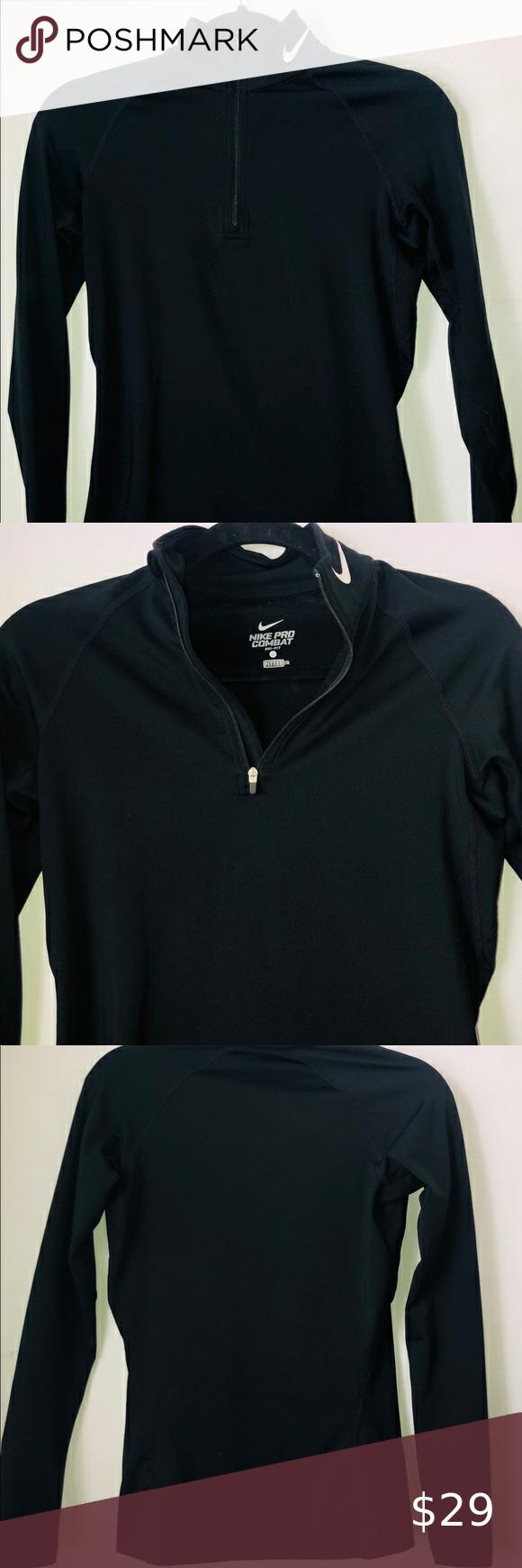 Nike Dri Fit Black Sweatshirt Size S Black Sweatshirts Nike Half Zip Long Sleeve Tshirt Men [ 1740 x 580 Pixel ]