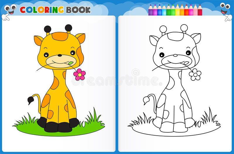 Giraffe Coloring Page Coloring Page Cute Giraffe With Colorful Sample Printable Worksheet For Preschool Ki En 2021 Libro De Colores Dibujos Para Colorear Imprimible Sample coloring worksheets for