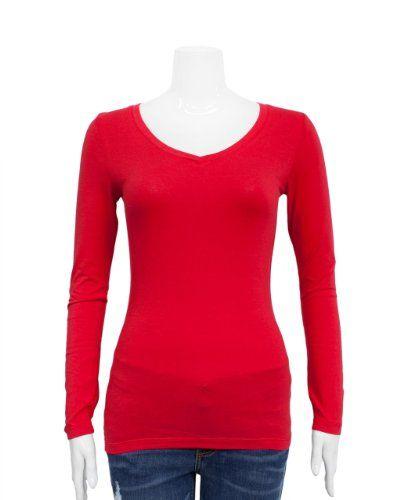 long sleeve red t-shirt to layer under HQ diamond shirt