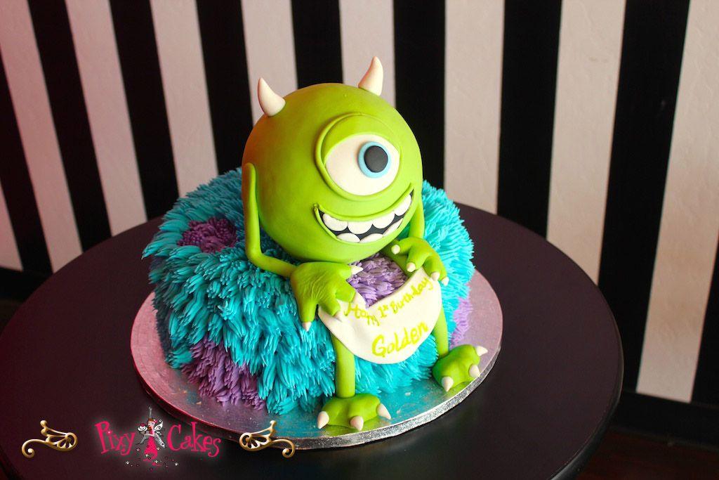 Pixy Cakes birthday cake boy girl monsters inc 2 tier fondant